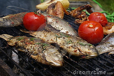 Carp with thyme