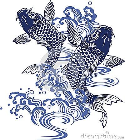 carpa giapponese illustrazione vettoriale immagine 41754818