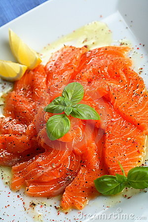 Free Carpaccio From Kipper With Juniper Stock Images - 1917584