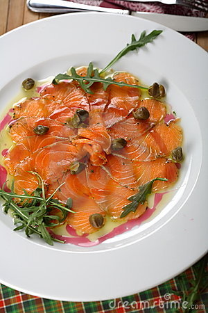 Free Carpaccio Made From Kipper Royalty Free Stock Image - 2463746