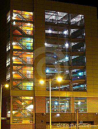 Carpark at night