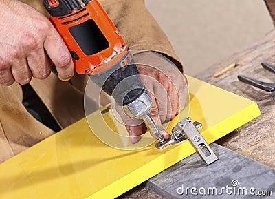 Carpenter in action