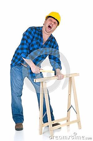 Free Carpenter At Work Stock Image - 4576221