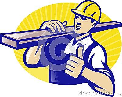 Carpenter Builder Worker Thumbs Up