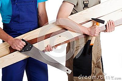 Carpenter and a builder