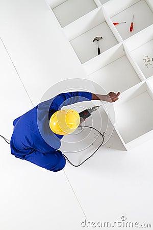 Carpenter building furniture