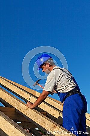Carpenter building roof structure