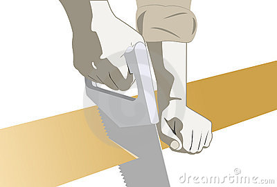 Carpenter Hands With A Saw Royalty Free Stock Images - Image: 21042679
