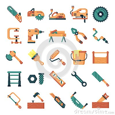 Free Carpenter Icons Pack Stock Photos - 144193583