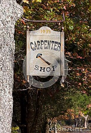 Carpenter Shop Sign