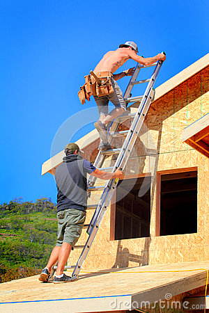 Free Carpenter Teamwork Stock Photography - 58233792