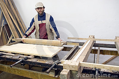 Carpenter at work.