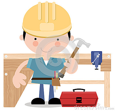 Carpenter/Workman with tools