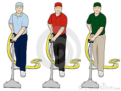 Carpet Cleaning Tech Clip Art Set 3 Royalty Free Stock