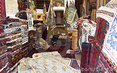 Carpet shop in Kabul