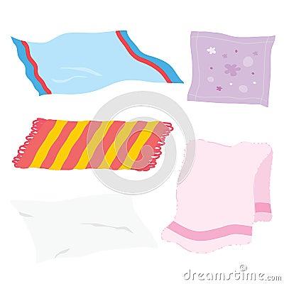 Free Carpet Towel Sheet Napkin Handkerchief Rag Fabric Cloth Cartoon Vector Stock Photos - 64556953