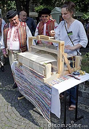 The carpet weaving Editorial Photo