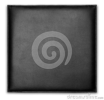 Carpeta de cuero negra del caso