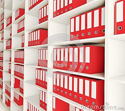 Carpeta del archivo del estante