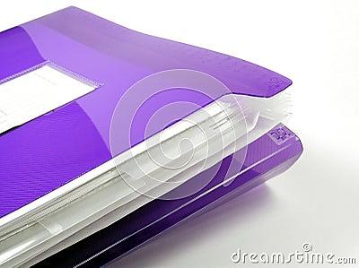 Carpeta plástica púrpura