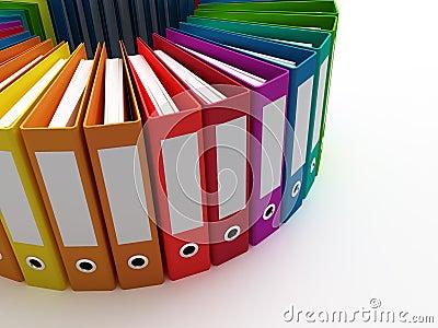 Carpetas de la oficina imagen de archivo imagen 19043431 for Carpetas para oficina