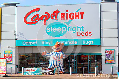 Carpetright store front. Editorial Stock Photo