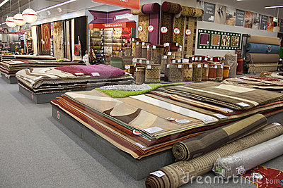 Carpets in the store Editorial Stock Photo