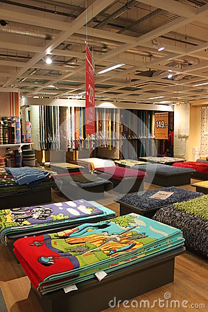 Carpets store Editorial Stock Photo
