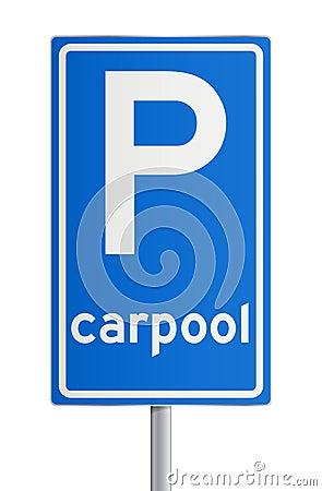 Carpool roadsign