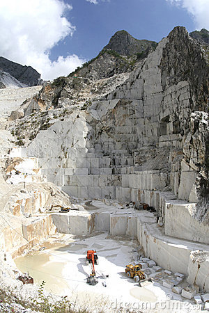 Carrara Marble cave mountain