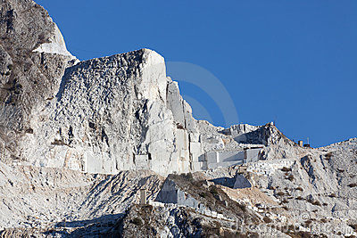 Carrara marble mountains
