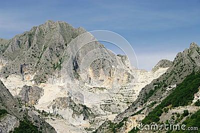 Carrara  marble stone pit