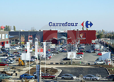 Carrefour Editorial Stock Photo