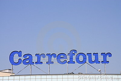 Carrefour Editorial Stock Image