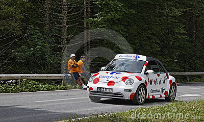 Carrefour car Editorial Image
