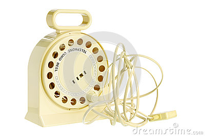 Carretel do cabo de telefone