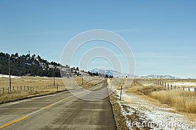 Carretera fría del invierno