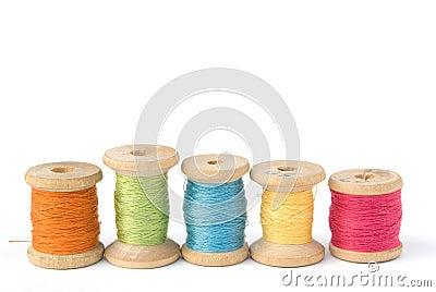 Carretes de la cuerda de rosca