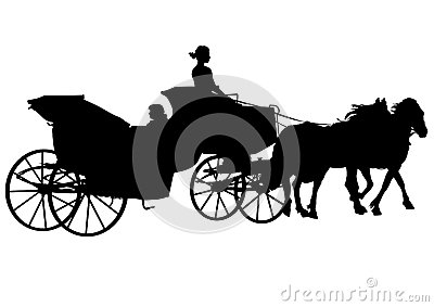Carriage and horses