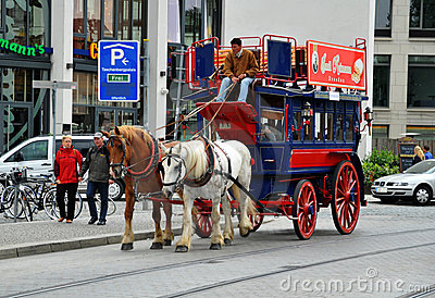Carriage and pair journey in Dresden Editorial Image