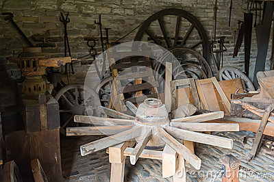 Carriage wheels workshop