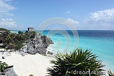 Carribean sea from tulum