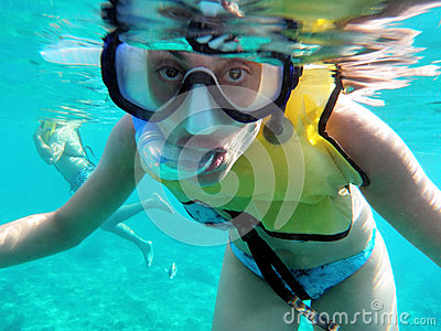 Carribean snorkeler