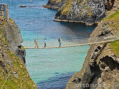 Carrick-a-Rede rope bridge Editorial Image