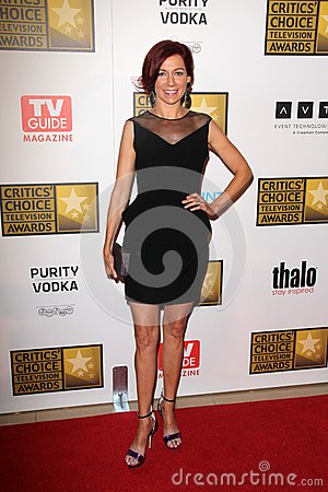 Carrie Preston at the Second Annual Critics  Choice Television Awards, Beverly Hilton, Beverly Hills, CA 06-18-12 Editorial Image
