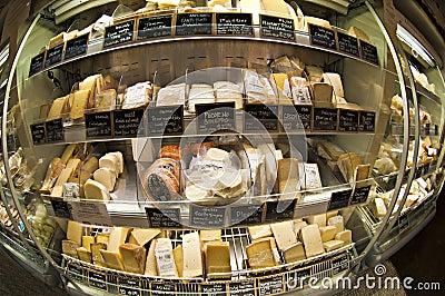 Carrinho do queijo Fotografia Editorial