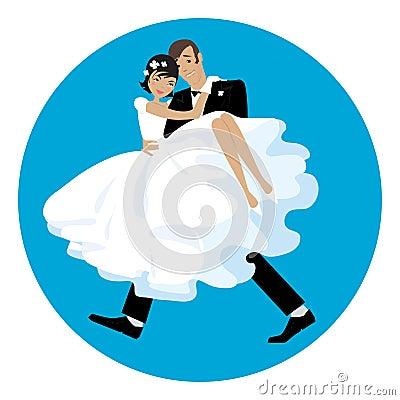 Carriyng the bride