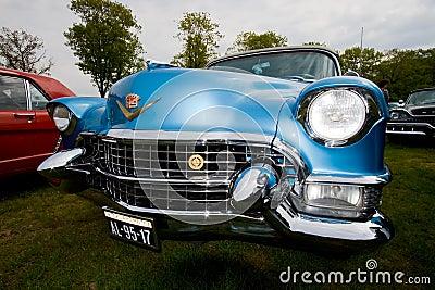 Carro 1955 do clássico do eldorado de Cadillac Fotografia Editorial