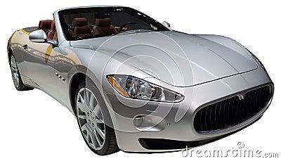 Carro convertível isolado