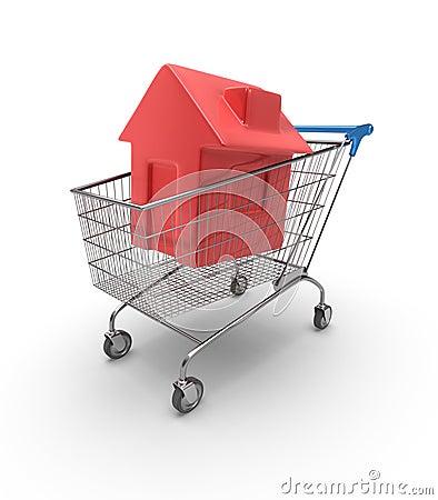 Carro de compras de la casa